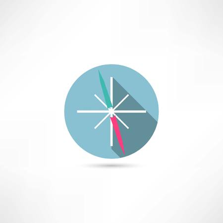 compas de dibujo: icono de la brújula Vectores