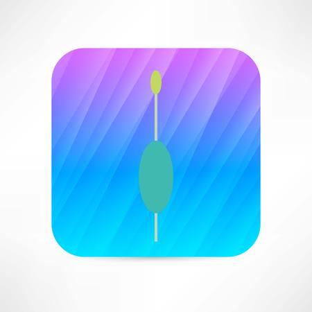 bobber: bobber icon Illustration