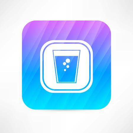 frigid: soda water icon Illustration