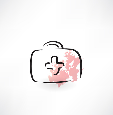 first aid kit grunge icon Vector