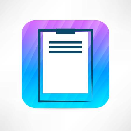 notarized: office tablet icon Illustration