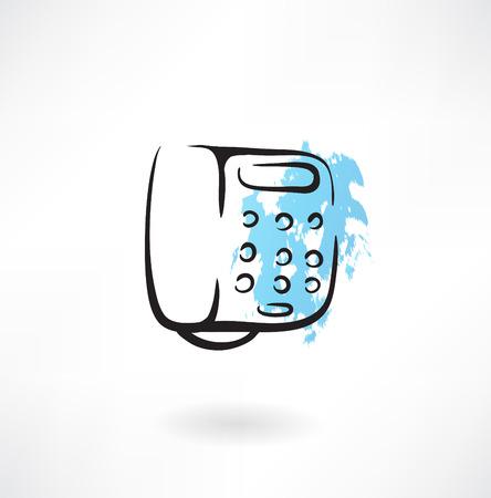 phone number: telephone grunge icon Illustration