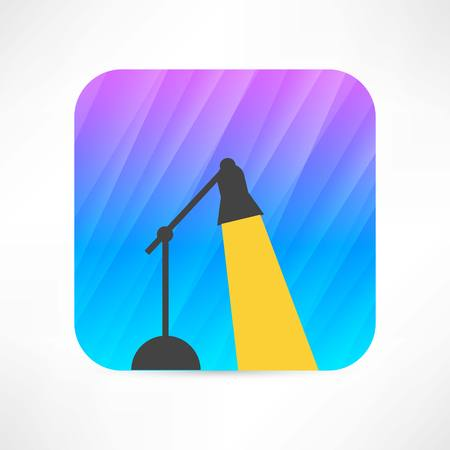table lamp icon Stock Vector - 27532637