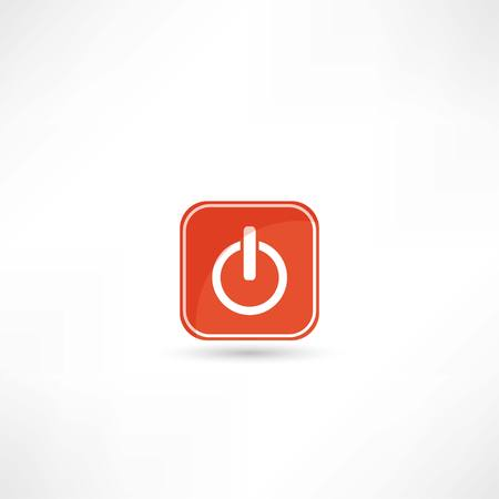 run off: off button icon Illustration