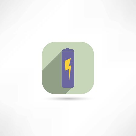 rechargeable: battery icon Illustration