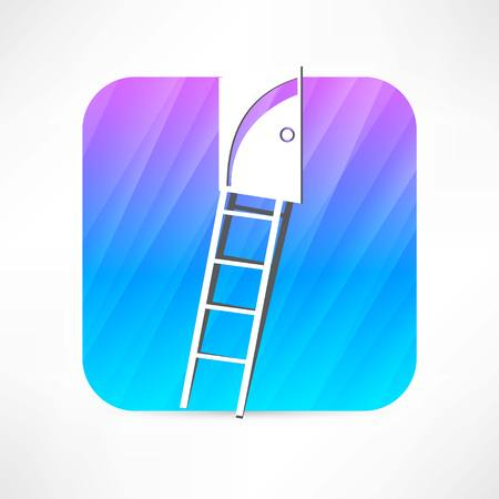 scuttle: staircase icon Illustration