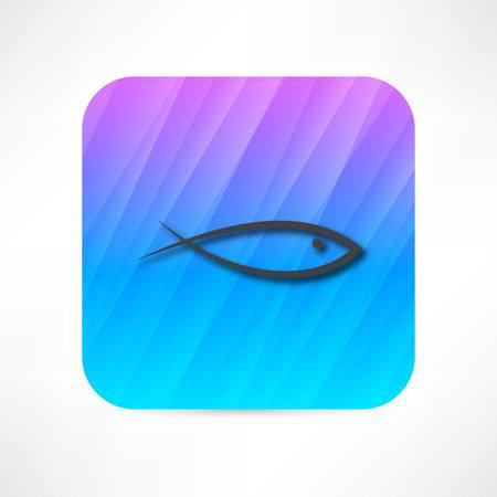 Icône du poisson Banque d'images - 27532698