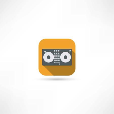magnetofon: magnetofon ikona Ilustracja