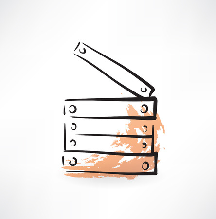 planking grunge icon Stock Illustratie