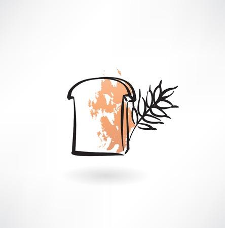 rye bread grunge icon