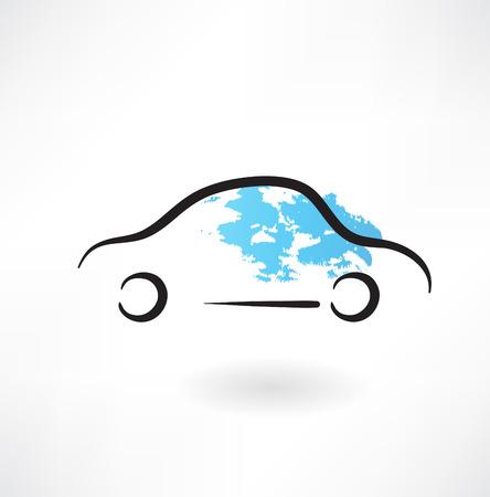 auto grunge pictogram