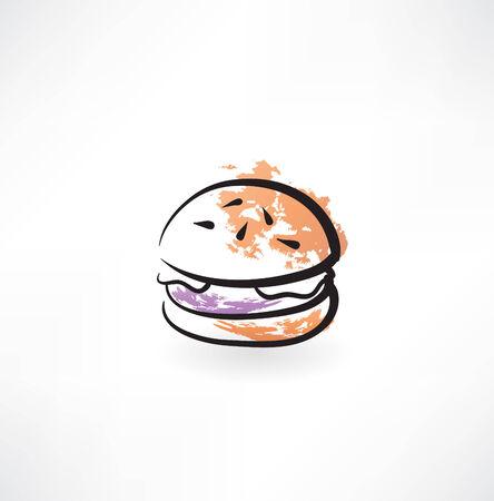 hamburger grunge icon Stock Illustratie