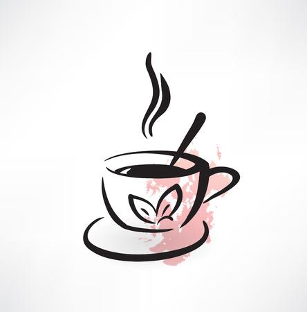 boiling: tea grunge icon Illustration
