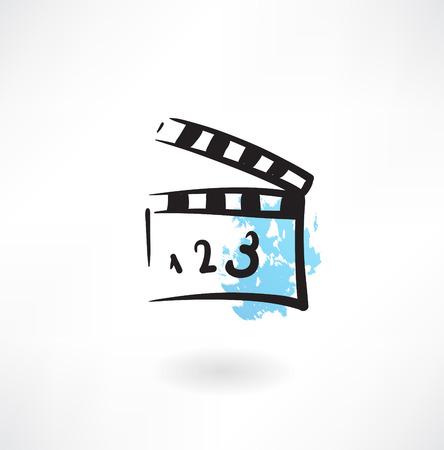 movie clapper grunge icon