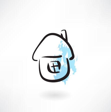 multistory: house grunge icon