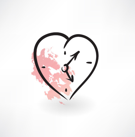 love time grunge icon