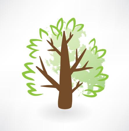 tree grunge icon