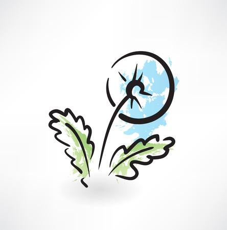 snort: dandelion grunge icon