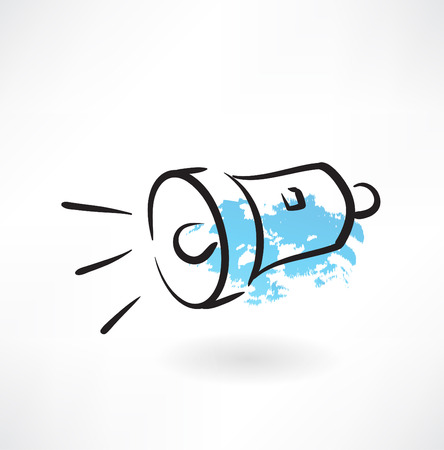 flashlight grunge icon Vector