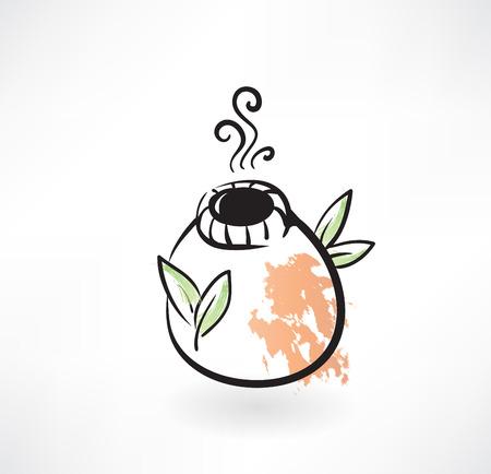 yerba mate: aparearse icono grunge té