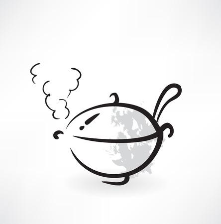 ladle: pot icon Illustration