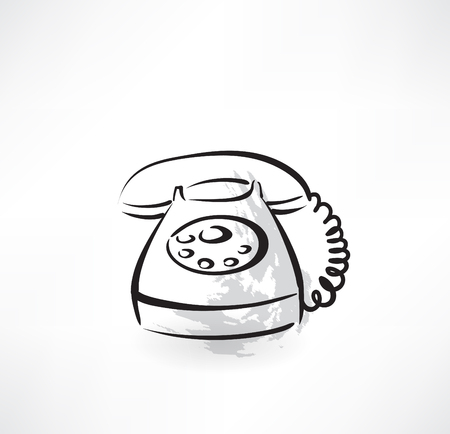 old phone grunge icon Vector