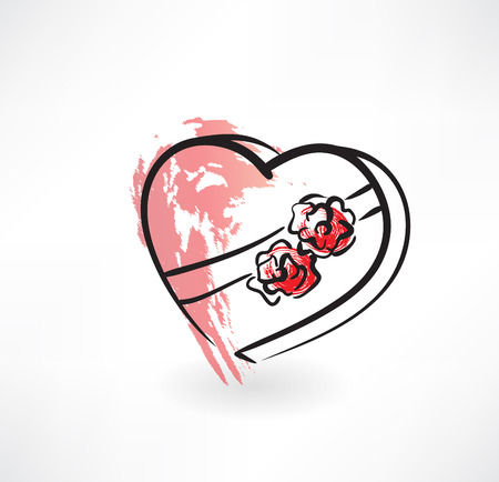 valentine grunge icon Stock Vector - 27533266
