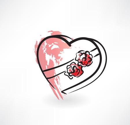 valentine grunge icon Stock Vector - 27533266