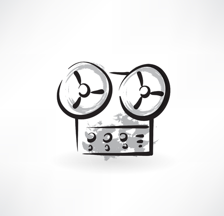 videocassette: icono de la grabadora grunge