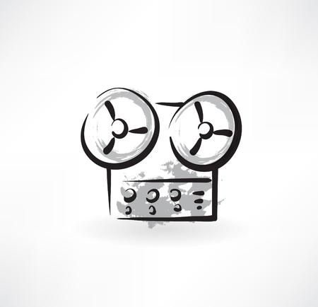 recorder grunge icon 向量圖像