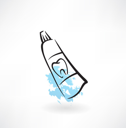 toothpaste grunge icon Vector