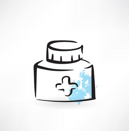 jar of pills grunge icon