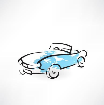 front wheel: car grunge icon
