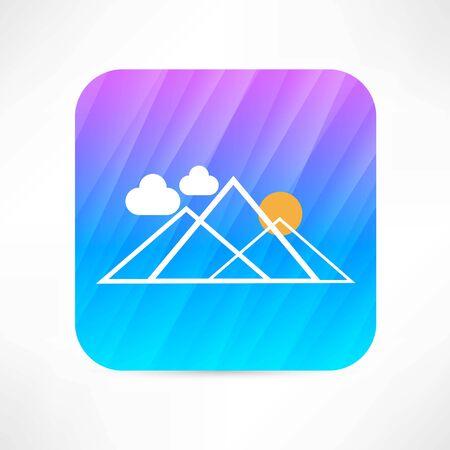 mountain icon Ilustração
