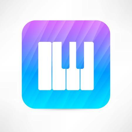 musical score: piano keyboard icon Illustration