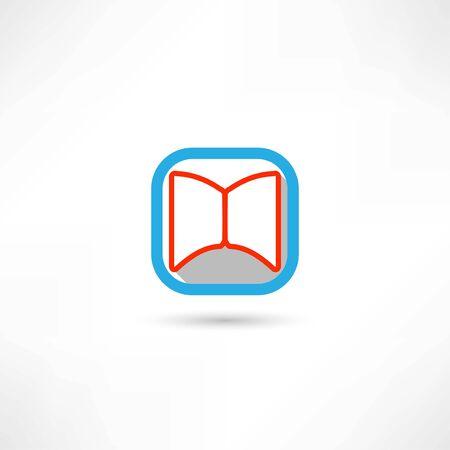 open book icon Illusztráció
