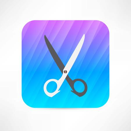 hairdressing scissors: scissors icon
