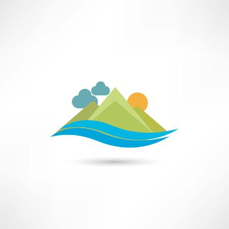 mountain icon Vector