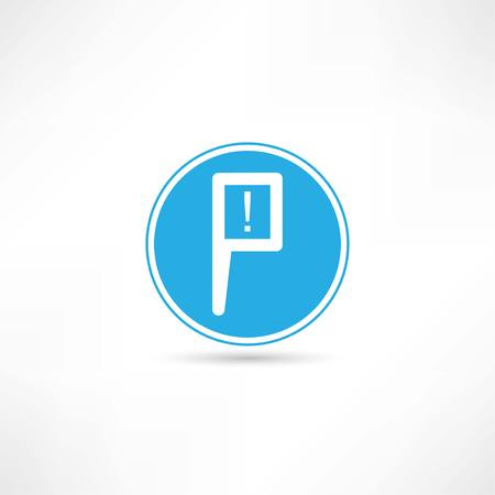 parking zone icon Vector