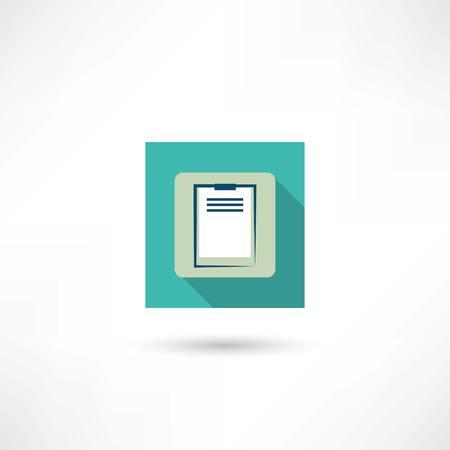 office tablet icon Illustration
