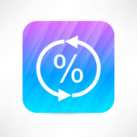 update percent icon Vector