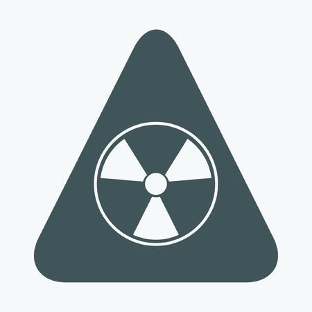 nuclear bomb: Radioactive symbol