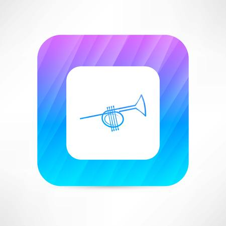 orchestral: trumpet icon Illustration