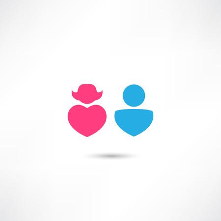 simbolo uomo donna: uomo e donna semplice