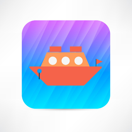 maritime accident: steamer icon Illustration