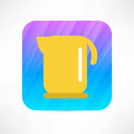electric kettle icon  イラスト・ベクター素材