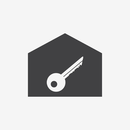 Real estate icons black and blue colors Vector