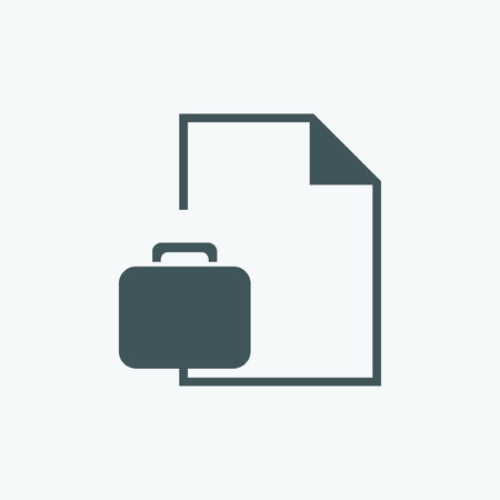 portfolio and paper icon Vector