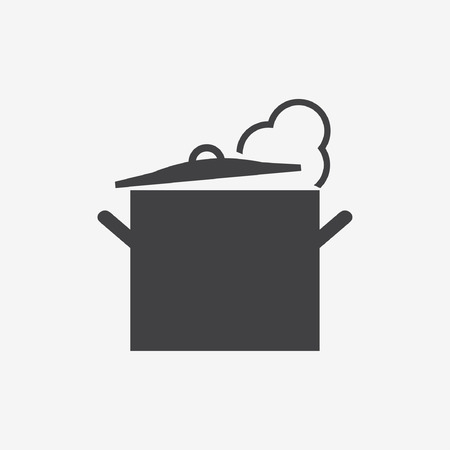 skillet: Cooking pan icon. Vector illustration Illustration