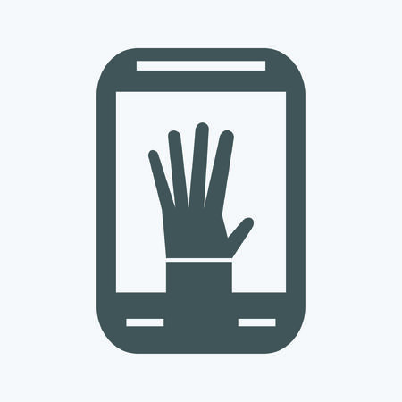 smartphone: Smartphone with hand icon